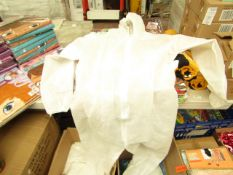 10x Full body lightweight protective coveralls, size M, new and packaged.