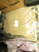 Solid beige full car mat set, new and packaged.