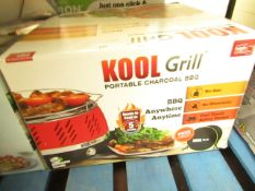 | 1X | KOOL GRILL PORTABLE CHARCOAL BBQ | UNTESTED & BOXED | NO ONLINE RE-SALE | SKU - | RRP £39.99