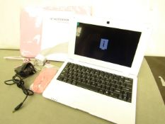 "10"" Action S500 Quad Core Notebook. Comes with pink Carry Case, Mouse, Earphones & Charger. Tested"