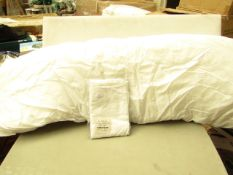 """Bolster Pillow With Bolster pillow case Both in White. 54"""" Long. Unused & packaged"""