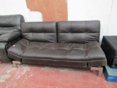 Eurolounger drop back sofa bed, couple of small cracks and grazes but overall in decent condition