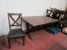 Bayside extending Dining table with 6 chairs, has a few scrapes on the table top but could be