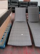 Costco Aire padded rattan sun lounger, looks in good conditon with no noticable damage, RRP £190 and