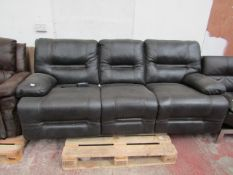 3 Seater Costco Leather reclining sofa, comes with transformer, RRP £799