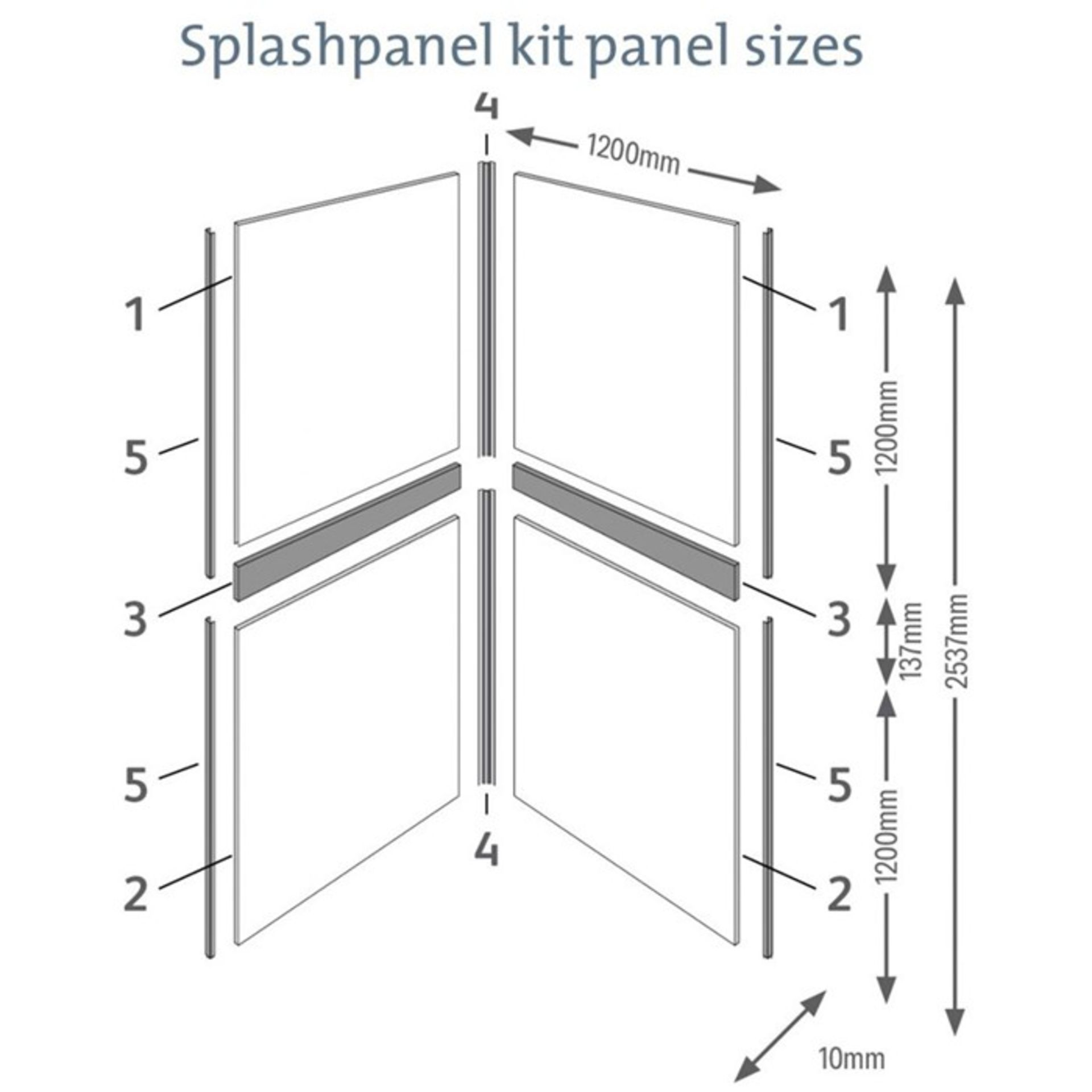 12x Splash Panel 2 sided shower wall kit in Sandstone, new and boxed, each kit contains 2 - Image 3 of 3