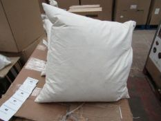 | 4X | UNBRANDED DUCK FEATHER FILLED 50X50CM CUSHION INNER PADS | NEW |
