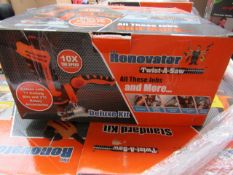   5X   RENOVATOR TWIST A SAW WITH ACCESSORY KIT   UNCHECKED AND BOXED   SKU C5060385829332   NO