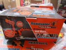   9X   RENOVATOR TWIST A SAW WITH ACCESSORY KIT   UNCHECKED AND BOXED   SKU C5060385829332   NO
