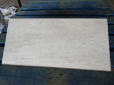 Pallet of 40x Packs of 5 Ashlar Crafted Grey Textured 300x600 wall and Floor Tiles By Johnsons, New,