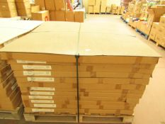 12x Splash Panel 2 sided shower wall kit in Sandstone matt, new and boxed, the kit contains 2