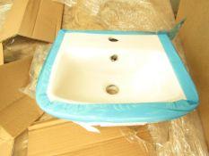 Roca Devine 400mm 1 tap hole basin, new#