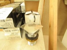Tissino Square click clack sink waste, new and boxed
