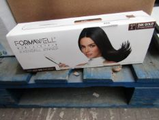 | 1X | KENDALL JENNER FORMAWELL BEAUTY PRO IRON HAIR STRAIGHTENER | TESTED WORKING AND BOXED | NO