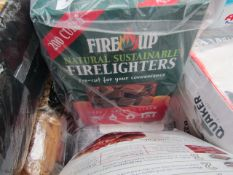 Fire Up 200 cubes firelighters. Boxed.