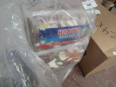 5 Tubs of Haribo Starmix. 1750g Each. Tubs have split but have been rebagged