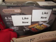 Quadra Pan 4 in 1 frying pan and oven dish, unchecked but bhe packaging says like new