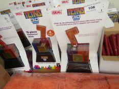 13x Ideal Tetris 3D 16 Piece Brainteaser Puzzle. New & Packaged