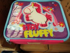 3x Stay Fluffy lunchbag, new and boxed.