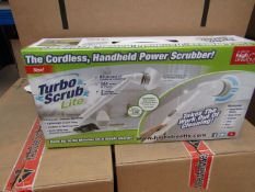 | 1X | TURBO SCRUB LITE CORDLESS HAND HELD POWER SCRUBBER | NEW AND BOXED | SKU C5060191467476 | RRP