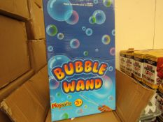 Box of 24 x Large Bubble Wands Swords with display box, new and boxed.