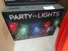 2x Party string lights, new and boxed.