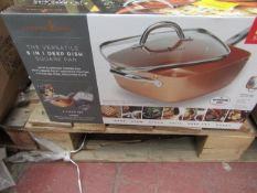 | 1X | COPPER CHEF 6 IN 1 DEEP DISH SQUARE PAN | UNCHECKED AND BOXED | NO ONLINE RE-SALE | SKU - |