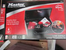 Master Lock Security chest, new and boxed, RRP £22