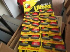 1x retail POS hanging pack of Ultrex Schick 2 razors, each retail pack contains 12 packs of 2