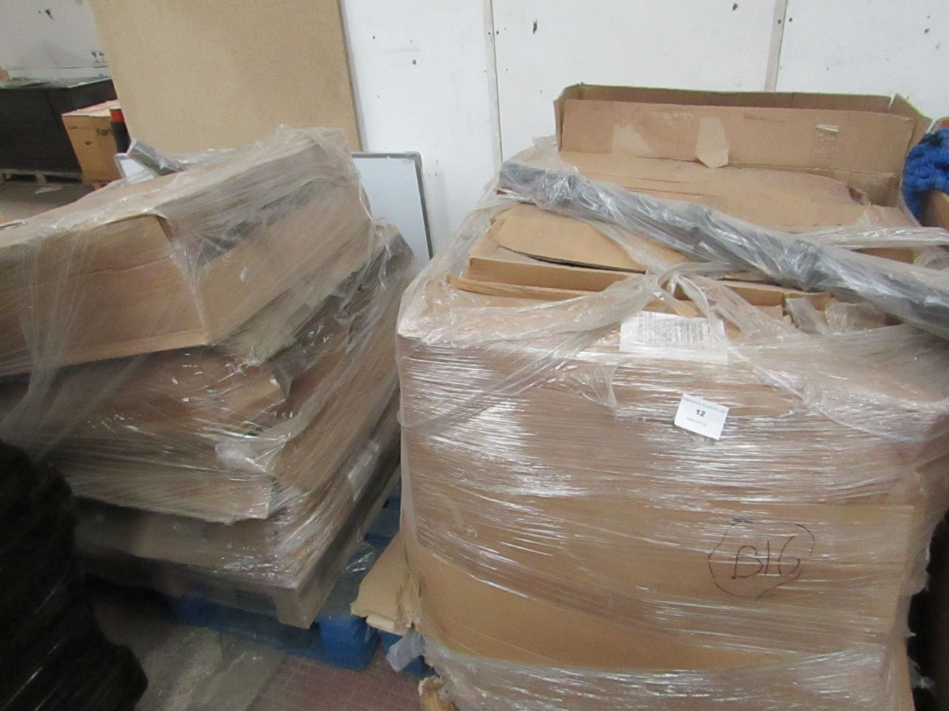 2x palleet so of Commerical Plant pot display stands, unused but the boxes are damaged and we