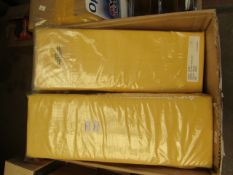 Yellow Double Fitted Sheet. New & packaged