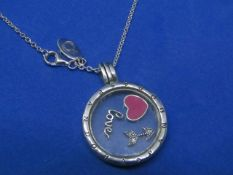 Pandora Locket style Pendant and chain, new with presentation bag