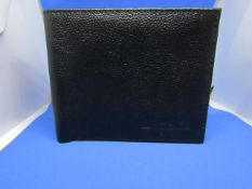 Barkers of Kensington Limited edition Black leather wallet, new.