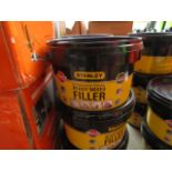 6x 600g tubs of Stanley Multi Purpose ready Mixed Interor and Exterior filler, new
