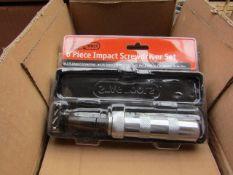Stag 6 piece impact screwdriver set, new.