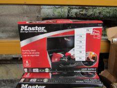 Master - Security Storage Box (with Key) - New.