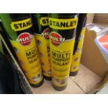 6x 300ml Tubes of Stanley Interior and exterior multi Purpose Translucent Sealant, new