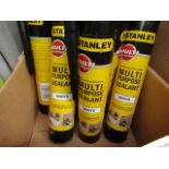 7x 300ml Tubes of Stanley Interoer and exterieor multi Purpose White Sealant, new