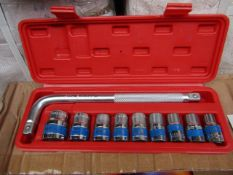 10 Piece MLG Tools socket set with L type handle - New & Boxed.