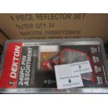 2x Dekton 240 piece pin assortment, new