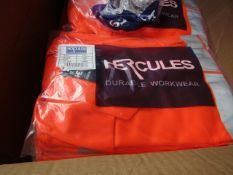 Hercules Hi Viz work jacket, new, size 3XL
