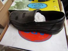 ABS Steel toe cap slip on shoes, new size 3