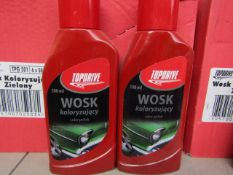 Box of 6x 500ml bottles of Top drive car polish, new