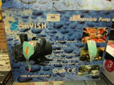 SKYISH - Submersible Pump (10m Rubber Cable) - Unchecked & Boxed.