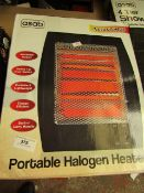 Asab - Portable Halogen Heater - Untested & Boxed.