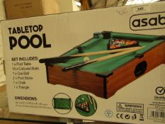 Asab - Tabletop Pool - Unchecked & Boxed.
