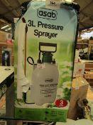 Asab - Pressure Sprayer (3 Litre) - Untested & Boxed.