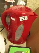1.7L Red Kettle. Looks has Been used. Untested