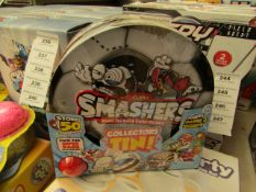 2 x Zuru Smashers Collectors Tin Sets, New & Packaged