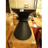 La Redoute Black Bedside Table. Box is Damaged & Item has a slight scratch around the top rim but an
